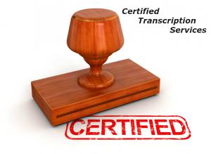 Certified Transcription